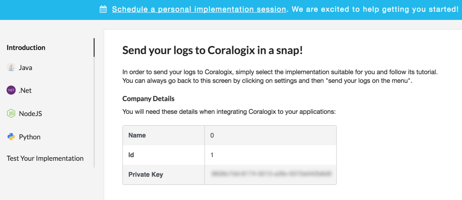 A guide for your first steps with Coralogix