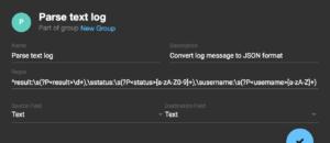 coralogix log parsing rules parse to json