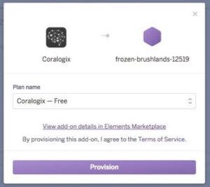 provision coralogix on heroku