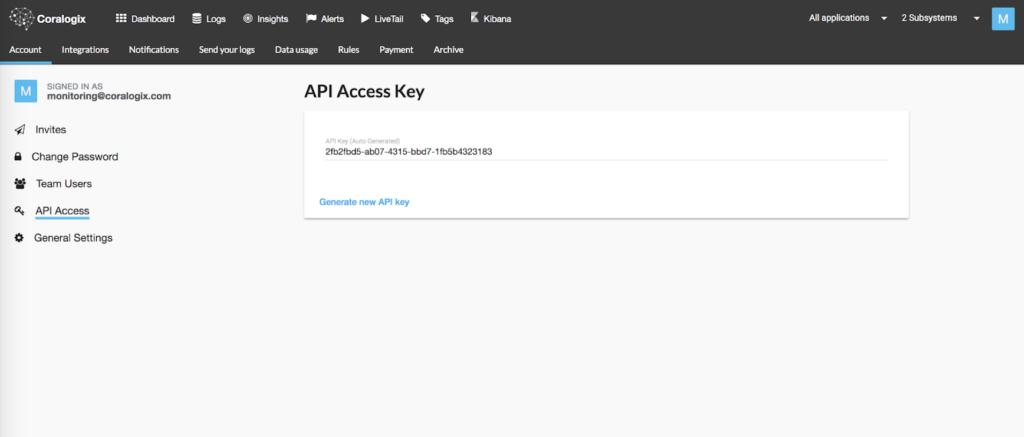 coralogix alerts API