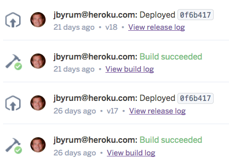 Heroku Build Logs