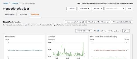lambda function monitorin