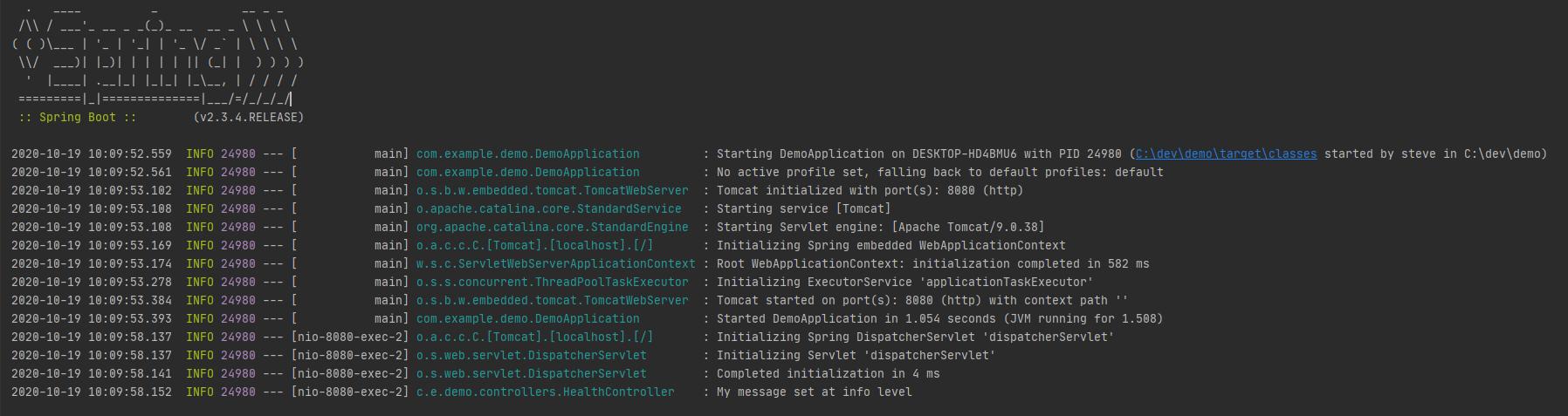 logback default logging format