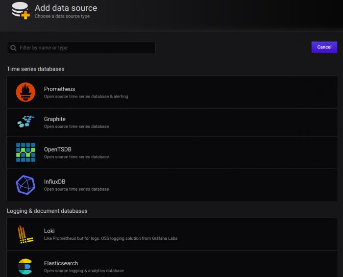 data source types