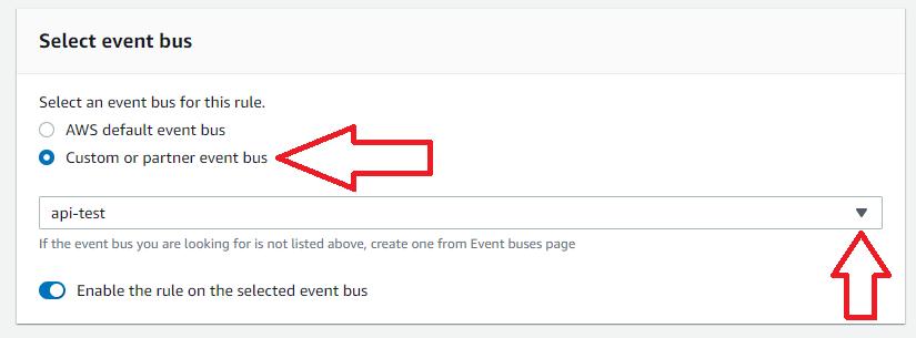 select event bus eventbridge