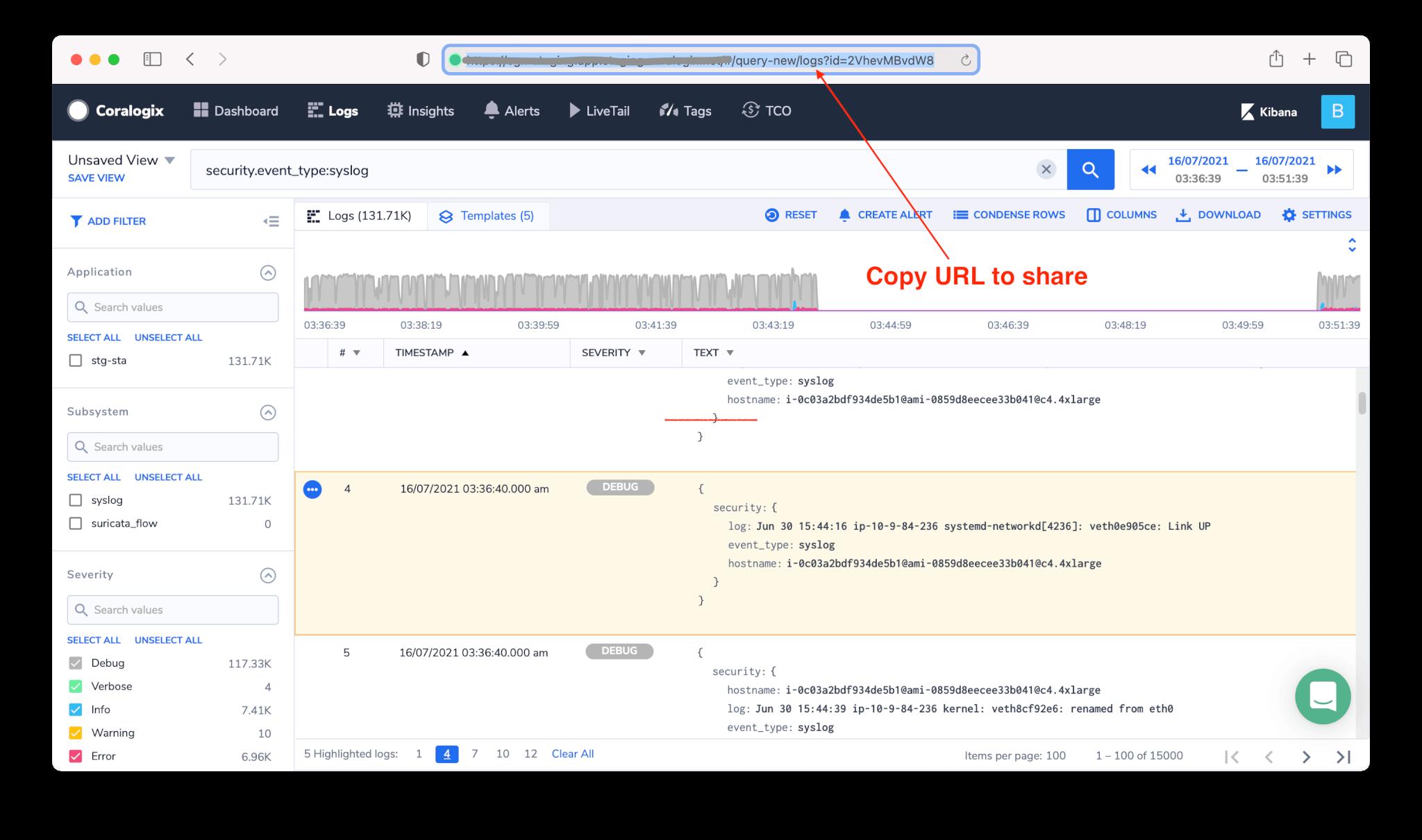 log screen highlight sharing